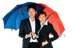 Sous des parapluies Image libre de droits