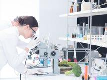 Sous l'analyse de laboratoire de microscope Images stock