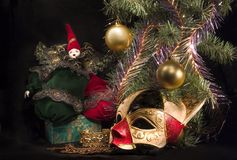 Sous l'arbre de Noël Photo libre de droits