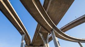 Sous l'autoroute urbaine Images libres de droits