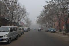 Sous la brume de Tianjin Photo libre de droits