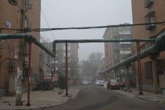 Sous la brume de Tianjin Photos libres de droits