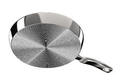 Sous la casserole en métal sur le fond blanc Image libre de droits