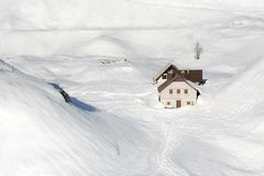 Sous la neige Photos libres de droits