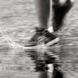 Sous la pluie photo stock