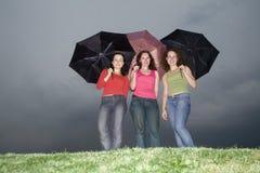 Sous la pluie Image stock