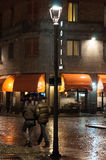 Sous la pluie Image libre de droits