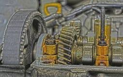 Sous la protection des valves de la voiture Photographie stock libre de droits