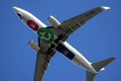 Sous la trajectoire de vol de l'aéroport de Rotterdam image stock