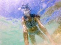 Sous la vue de l'eau Images libres de droits