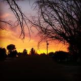 Sous le ciel de l'Arizona Photo stock