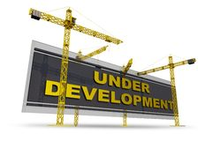 Sous le concept de développement Image libre de droits