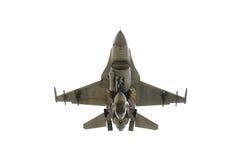 Sous le F-16 de vue Image stock
