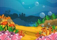 Sous le fond de mer Photographie stock libre de droits