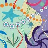 Sous le papier peint de mer et de tuile illustration libre de droits