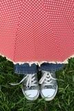 Sous le parapluie Photos libres de droits