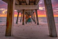 Sous le pilier de Juno Beach photo libre de droits