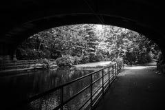 Sous le pont Image libre de droits
