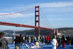 Sous le pont en porte d'or photo libre de droits