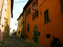 sous le Sun toscan Chianti Photos libres de droits