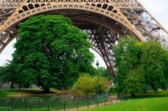 Sous les arbres de tour d'Eifel Photographie stock