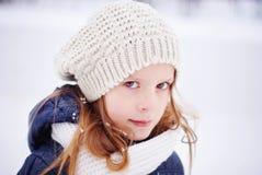 sous les flocons de neige Photo libre de droits