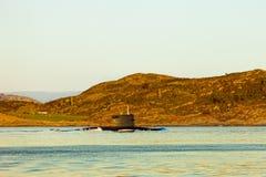 Sous-marin à la mer Images stock