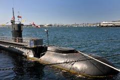 Sous-marin américain dans un musée à San Diego Image libre de droits