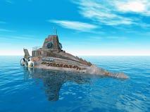 Sous-marin d'imagination Illustration Libre de Droits