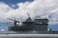 Sous-marin dans Laboe, Allemagne Images libres de droits