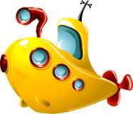 Sous-marin de dessin animé Image libre de droits