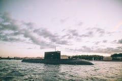 Sous-marin de guerre nucléaire Images libres de droits