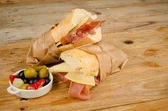 Sous-marin de jambon et de fromage Image stock