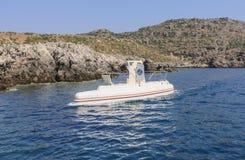 Sous-marin de marche de touristes Faliraki Île de Rhodes La Grèce Images stock