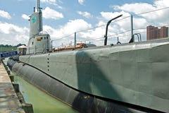 Sous-marin de Torsk d'USS dans le port intérieur de Baltimore Photo stock
