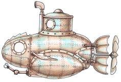 sous-marin de Vapeur-punk illustration stock