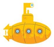 Sous-marin jaune Photo libre de droits