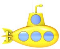 Sous-marin jaune Photographie stock libre de droits