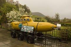 Sous-marin jaune, utilisé pour explorer le lac loch Ness Image libre de droits