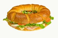 sous-marin rond de sandwich Photographie stock libre de droits