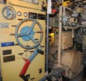 Sous-marin russe U-434 - intérieur submersible Images stock