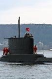 Sous-marin turc DOLUNAY (S-352) Photos libres de droits