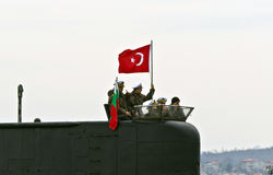 Sous-marin turc DOLUNAY (S-352) Photo libre de droits