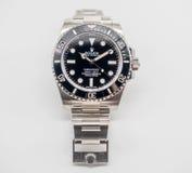 Sous-marinier de Rolex sur le fond blanc Photo libre de droits