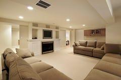 Sous-sol dans la maison de luxe Image stock