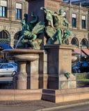 Sous-sol du monument à Alfred Escher sur la place de Bahhofplatz Photo libre de droits