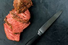 Sous -sous-vide rundvleeslapje vlees royalty-vrije stock afbeelding