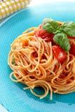 sous spaghetti pomidoru whit Obraz Stock