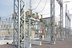 Sous-station électrique électrique Photographie stock