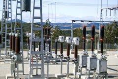 Sous-station électrique de distribution Photographie stock